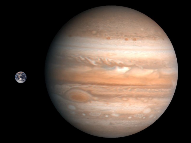 Jupiter,erde
