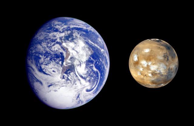 Mars erde