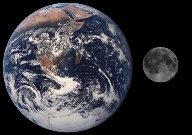 Mond-Erde
